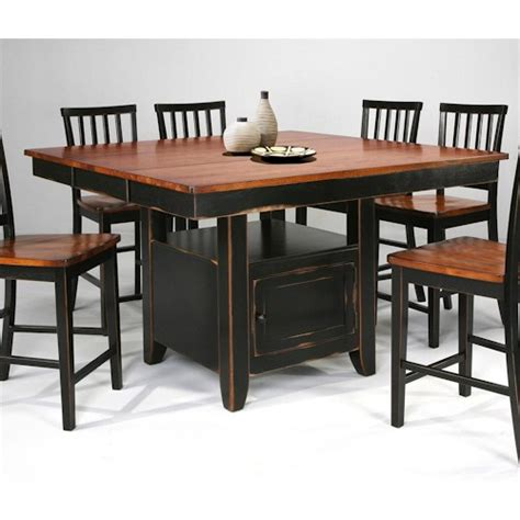 kitchen island dining set intercon arlington kitchen island slat back stools boulevard home furnishings pub table