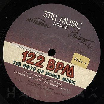 bpm of house music various artists 122 bpm the birth of house music mitchbal records chicago