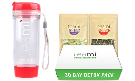 Teami Summer Detox Pack by Teami 30 Day Detox Pack And Original Tumbler Groupon