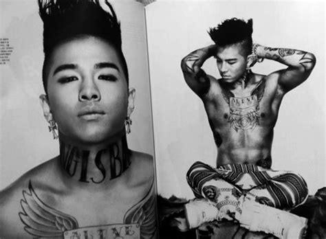 taeyang  big bang body modification taeyang hairstyle bigbang tattoos  guys