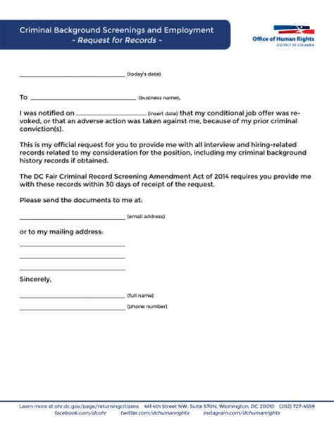 Criminal History Record Request Criminal Background Screening And Employment Resources For Applicants Ohr