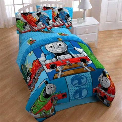 train bedding twin thomas train railroad 4pc twin comforter sheets bed set by