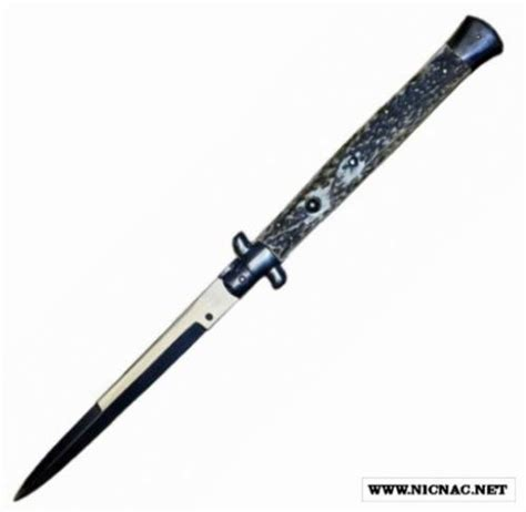 switchblade knives switchblade italian stiletto stag bayonet 13 inch automatic