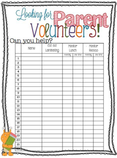 living laughing loving parent volunteer sign  sheet