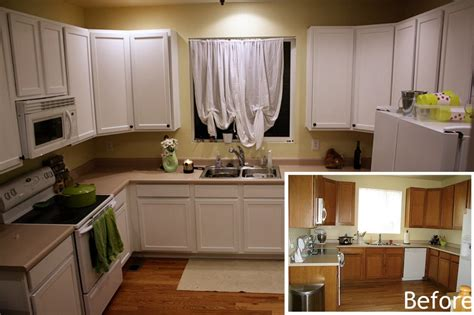 Painting Kitchen Cabinets White Before And After Pictures Painted Cabinets Before And After
