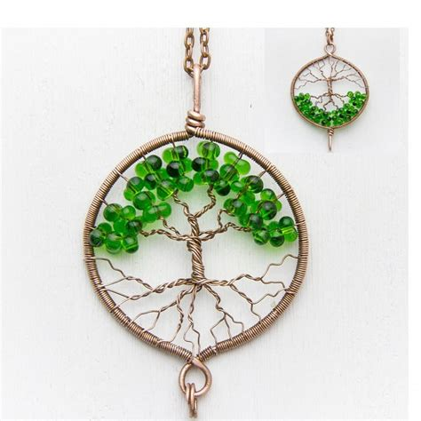 tree of necklace pendant 1 8 quot copper wire wrapped