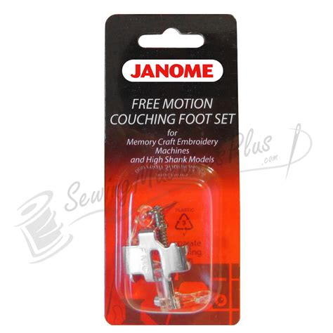 couching foot janome free motion couching foot set for memory craft