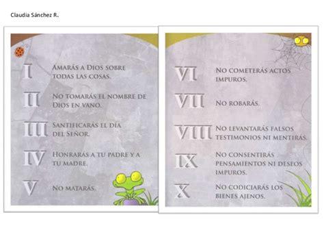 los diez mandamientos para nios los diez mandamientos