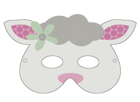 new year sheep mask template easter printables