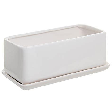 White Rectangular Planter Box by 22 10 Inch Rectangular Modern Minimalist White