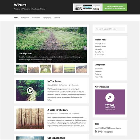 free wordpress blog themes best free wordpress themes wpexplorer