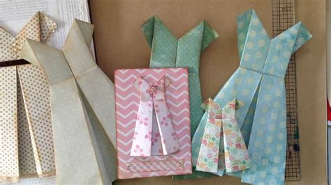 How To Fold A Paper Dress - how to fold a simple paper dress for a card or