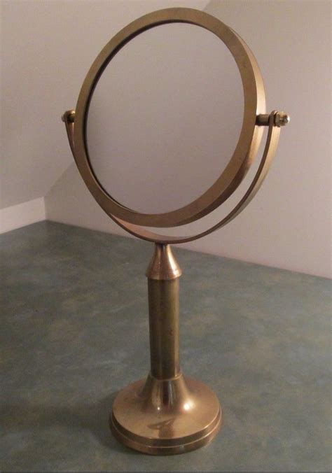 desk mirror with stand vintage round brass vanity mirror tilt stand top