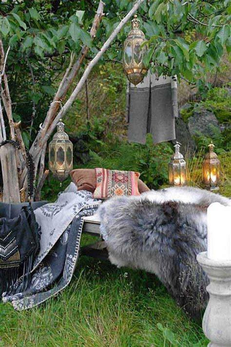 top  amazing garden decor ideas  bohemian style