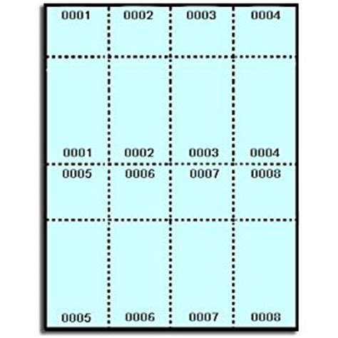 staples printable tickets template 400 label outfitters 174 blue numbered printable raffle