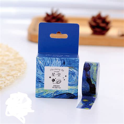 Washitape Masking 10 1 pcs size 15 mm 10m diy gogh painting paper washi masking decorative adhesive