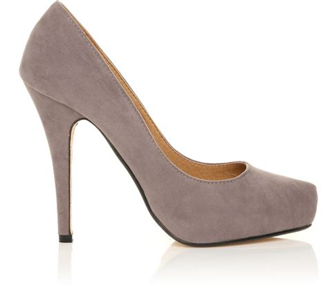 grey suede high heel shoes rakuten h251 grey faux suede stiletto high heel concealed