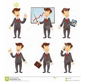 Personaje De Dibujos Animados Del Hombre Negocios