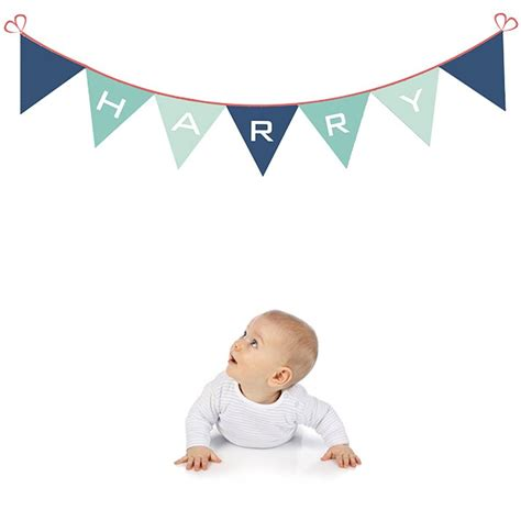bunting wall stickers bunting name fabric wall sticker by littleprints notonthehighstreet