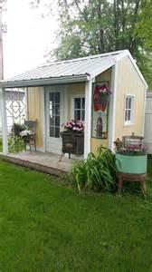 she sheds my backyard she shed shabby lovliness pinterest backyard retreat the old and stove