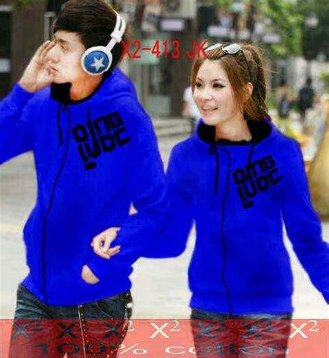 Sweater Blue Biru Hoodie Hoddie Babyterry Bebytery Jaket Qing Luoc Biru Jacket Remaja Korea Keren