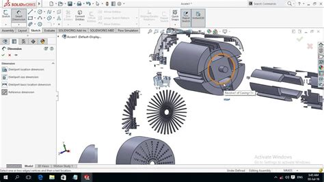 tutorial solidworks motor modeling and assembly of electric motor 3 3 solidworks