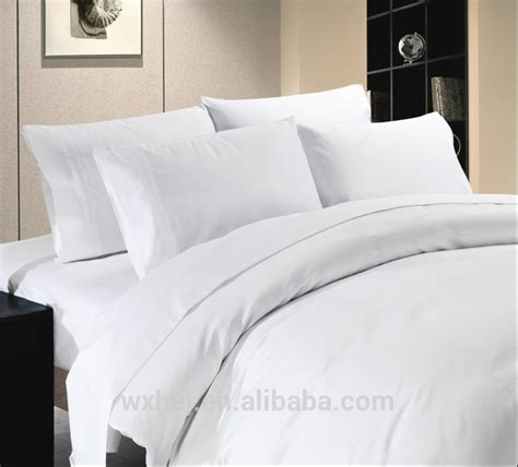 Luxury Plain White Duvet Cover/bed Sheet/pillow Case   Buy