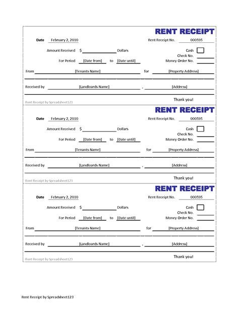 printable rent receipt free 5 best images of credit card sales receipt forms templates