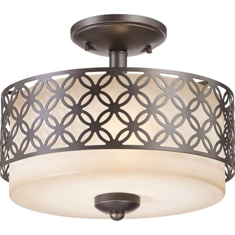 nuvo margaux 2 light patina bronze semi flush fixture