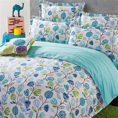 blue flower comforter set pretty white and blue floral cotton bedding set ebeddingsets