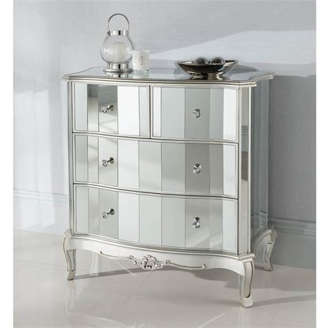 Mirrored Chest Of Drawers Uk by Argente Mirrored Chest Of Drawers Venetian Furniture