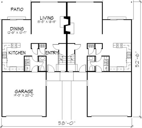 Multi Unit Home Plans by Multi Unit House Plans Home Design Ls H 5911 A2