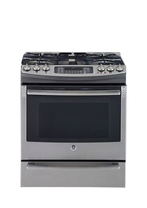 ge 5 4 cu ft slide in self cleaning gas convection range