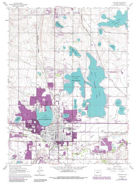 loveland colorado map loveland topographic map co usgs topo 40105d1