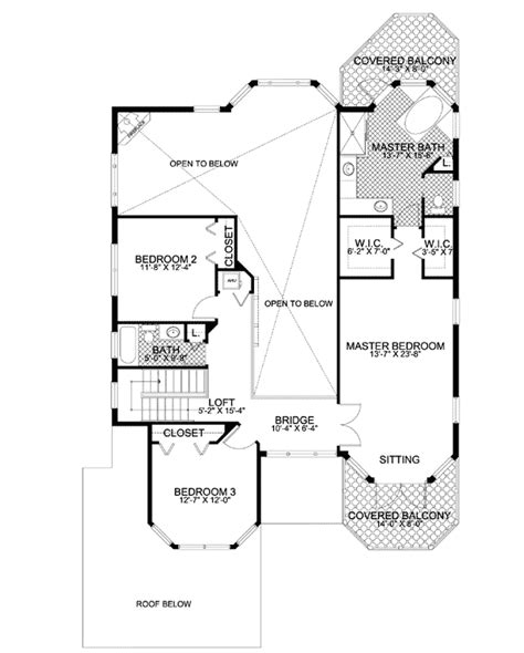 House Plans With Balcony On Second Floor by Beach Home With Second Floor Balconies 32026aa 2nd