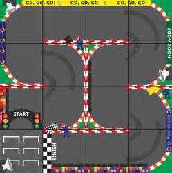 Printable Shapes Programmable Robot Racing Track Mat Free Early Years