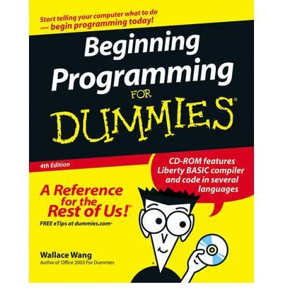 Beginning Programming beginning programming for dummies wallace wang