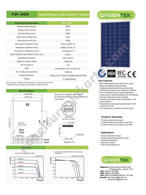 Panel Suryapv Module 300wp Polycrystalline panel surya 300 wp greentek polycrystalline