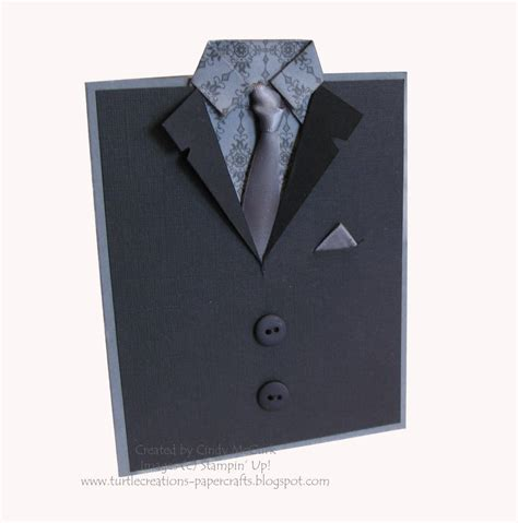 how to make a suit card turtle creations suit card