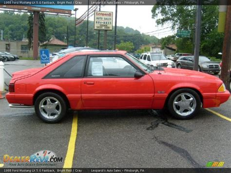 1988 ford mustang lx 5 0 fastback bright gray photo