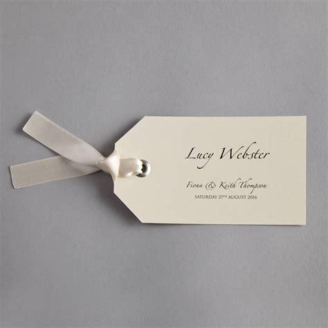 luggage tag wedding invitation by twenty seven notonthehighstreet