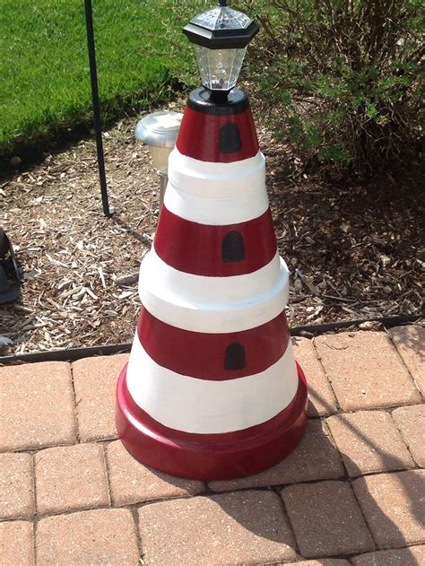 diy lighthouses 8 simple clay pot lighthouse projects for your garden