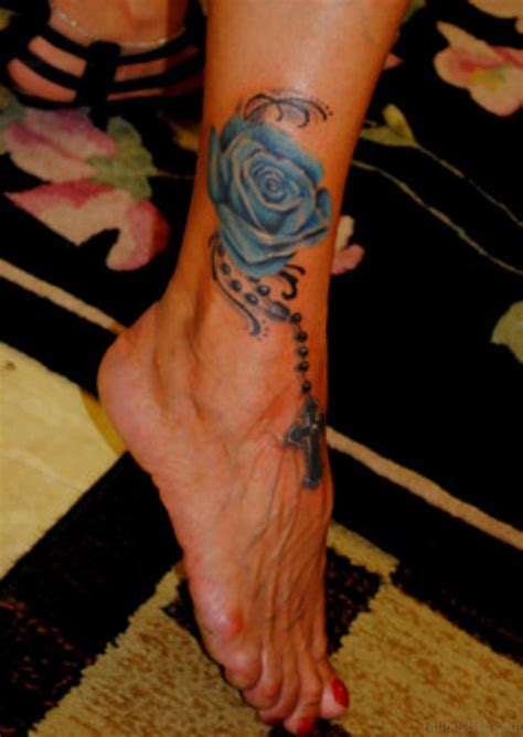 rose with a rosary tattoo 70 fabulous rosary tattoos on ankle