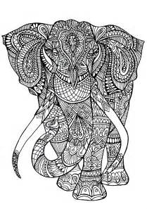 animal coloring pages for adults elephant patterns animals coloring pages for adults