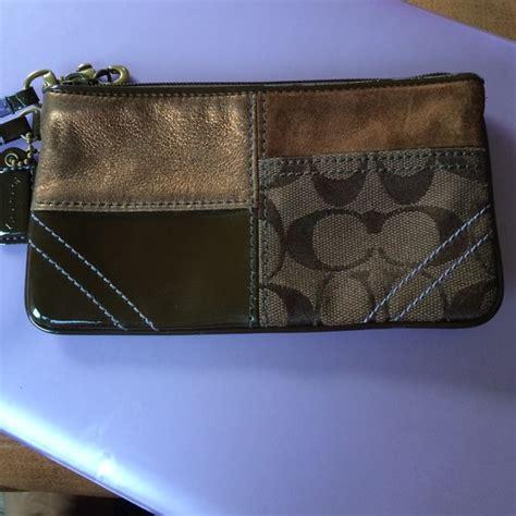 Coach Patchwork Wristlet - 29 coach clutches wallets authentic coach brown