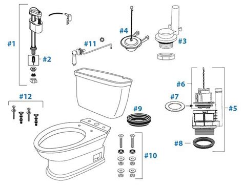Toto Plumbing Parts by Toto Carrollton Toilet Replacement Parts