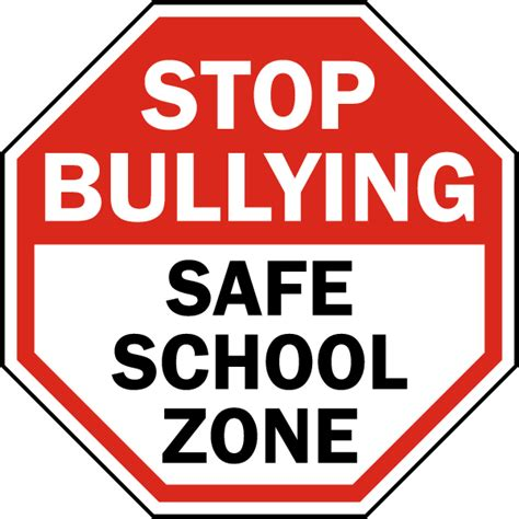 stop bullying safe school sign by safetysign f7617