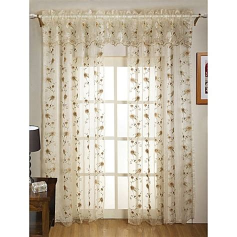 sheer embroidered curtains madeline sheer embroidered leaf window curtain panel and