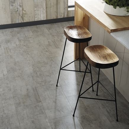 Quickstep Livyn Light Grey Travertine Vinyl Tile Flooring