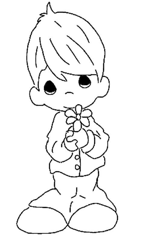 Free Coloring Pages Of Boy Precious Moments Precious Moments Boy Coloring Pages Free